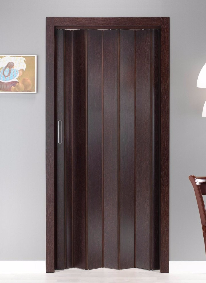 Puerta plegable pvc corrediza imitaci n madera 130 x - Puertas plegables madera ...