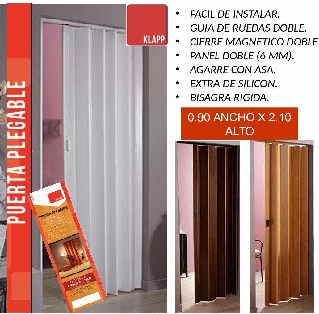 Puerta plegable pvc plastica para cocina ba os closet etc bs en mercado libre - Puertas plegables para banos ...