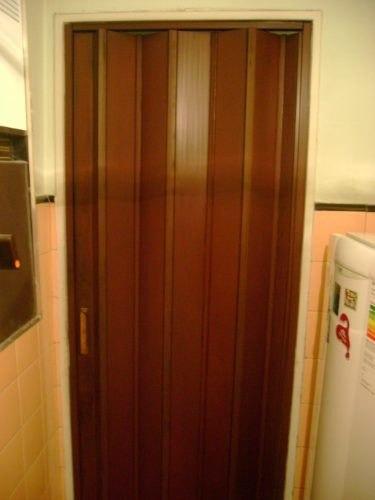 puerta plegadiza de pvc de 090 x 200 (completa)