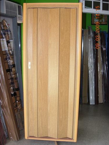 puerta plegadiza en melamina ciega mco. std (simil madera).