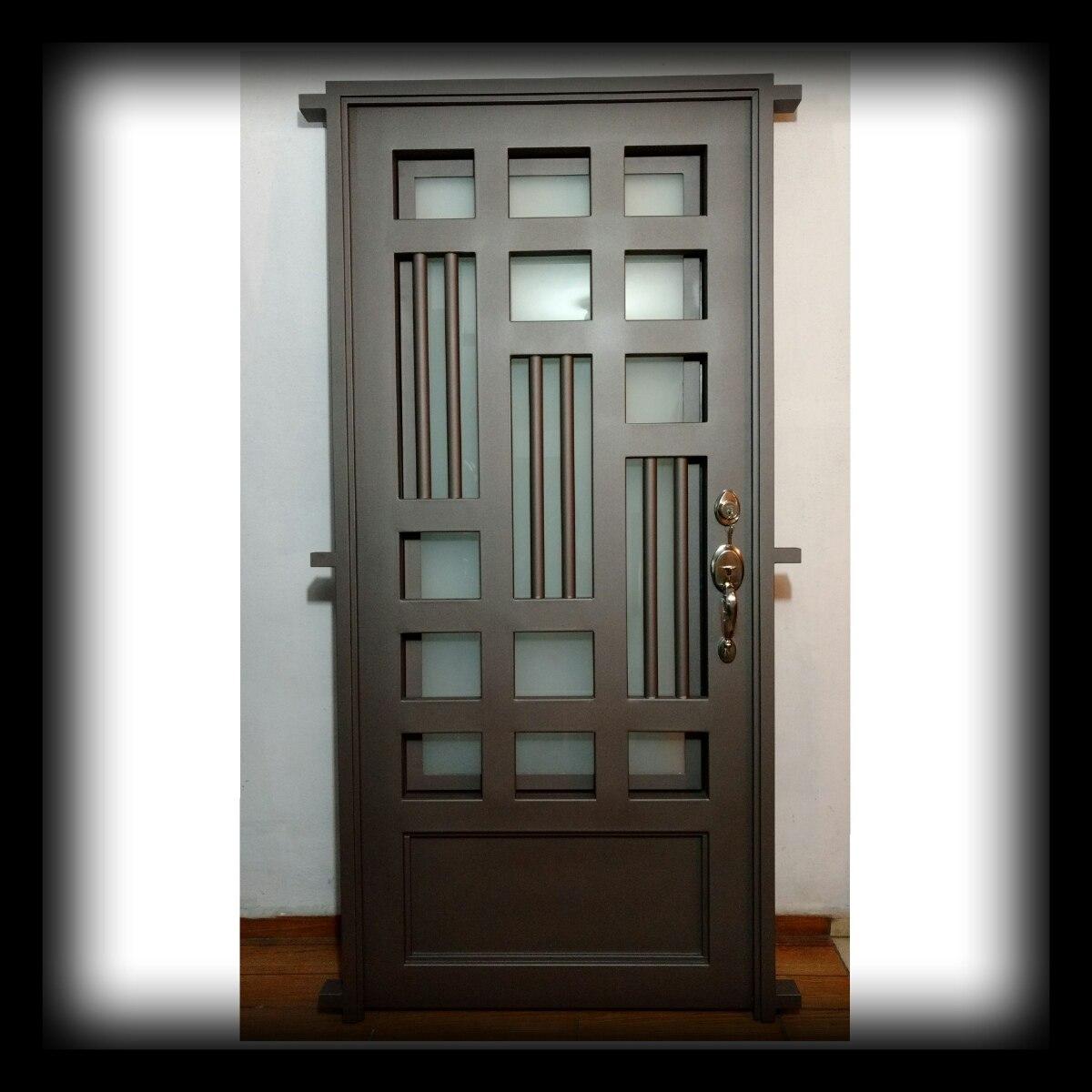 Puerta principal de forja contempor nea super oferta for Puertas de metal para exterior