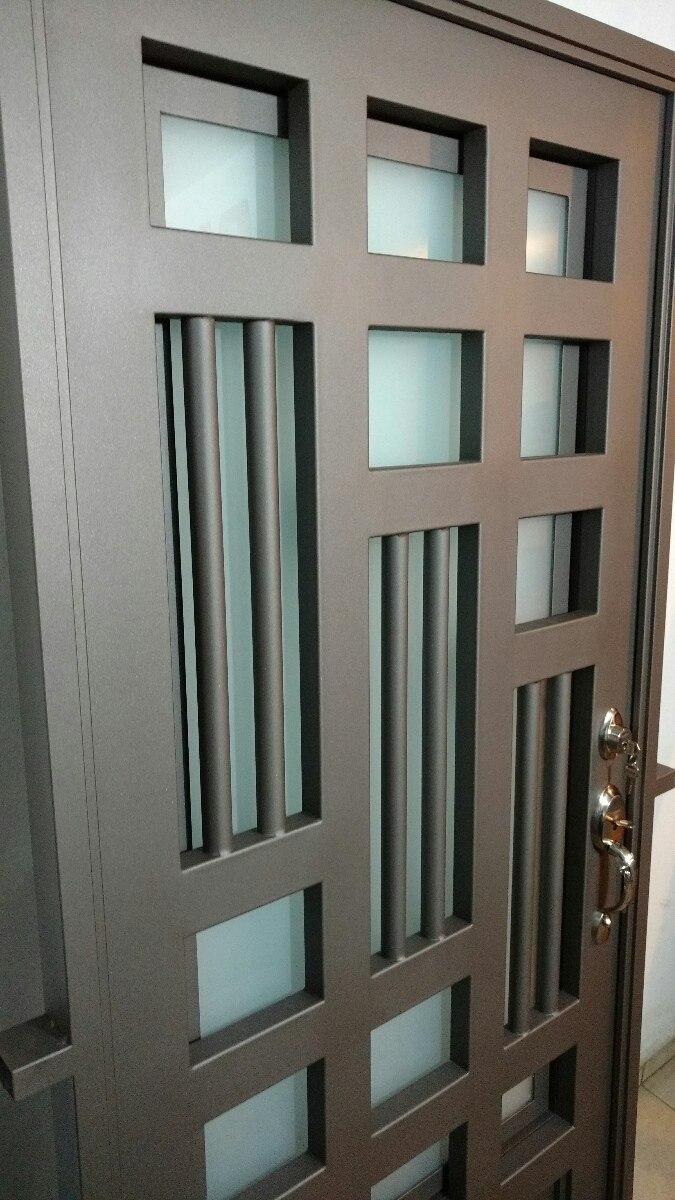 Puerta principal de forja contempor nea super oferta for Puertas correderas de forja