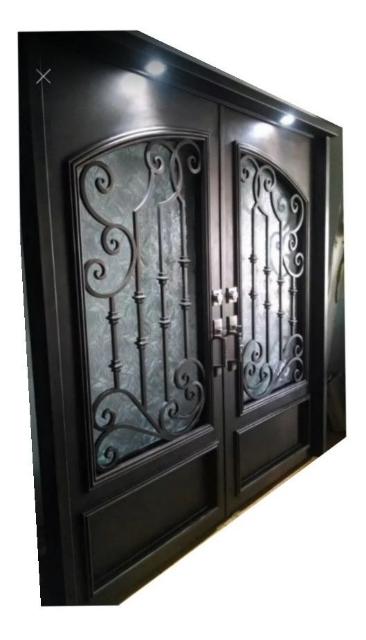 Puerta Principal Doble De Herrería Forja - $ 44,900.00 en