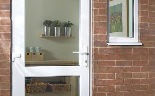 puerta pvc + doble vidriado hermético + 800mm x 2100mm