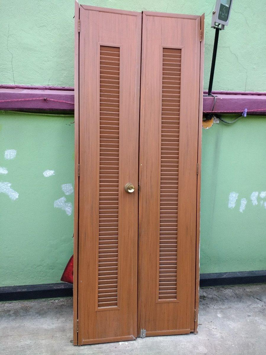 Puerta Pvc Dos Hojas Con Rejillas 2.24 X .88 Con Marco - $ 1,700.00 ...