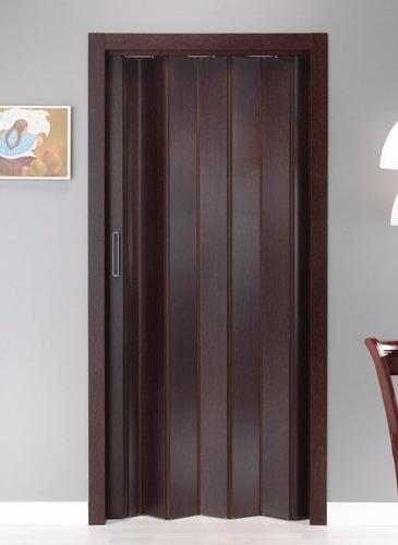 puerta pvc interior - plegable - imitación madera 100 x 220