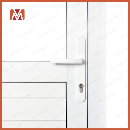 puerta pvc saphir con cepillo medio vidrio dvh 90x200