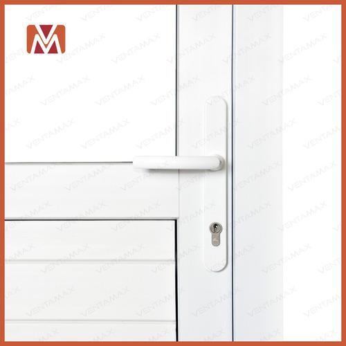 puerta pvc saphir con umbral medio vidrio vs 90x220