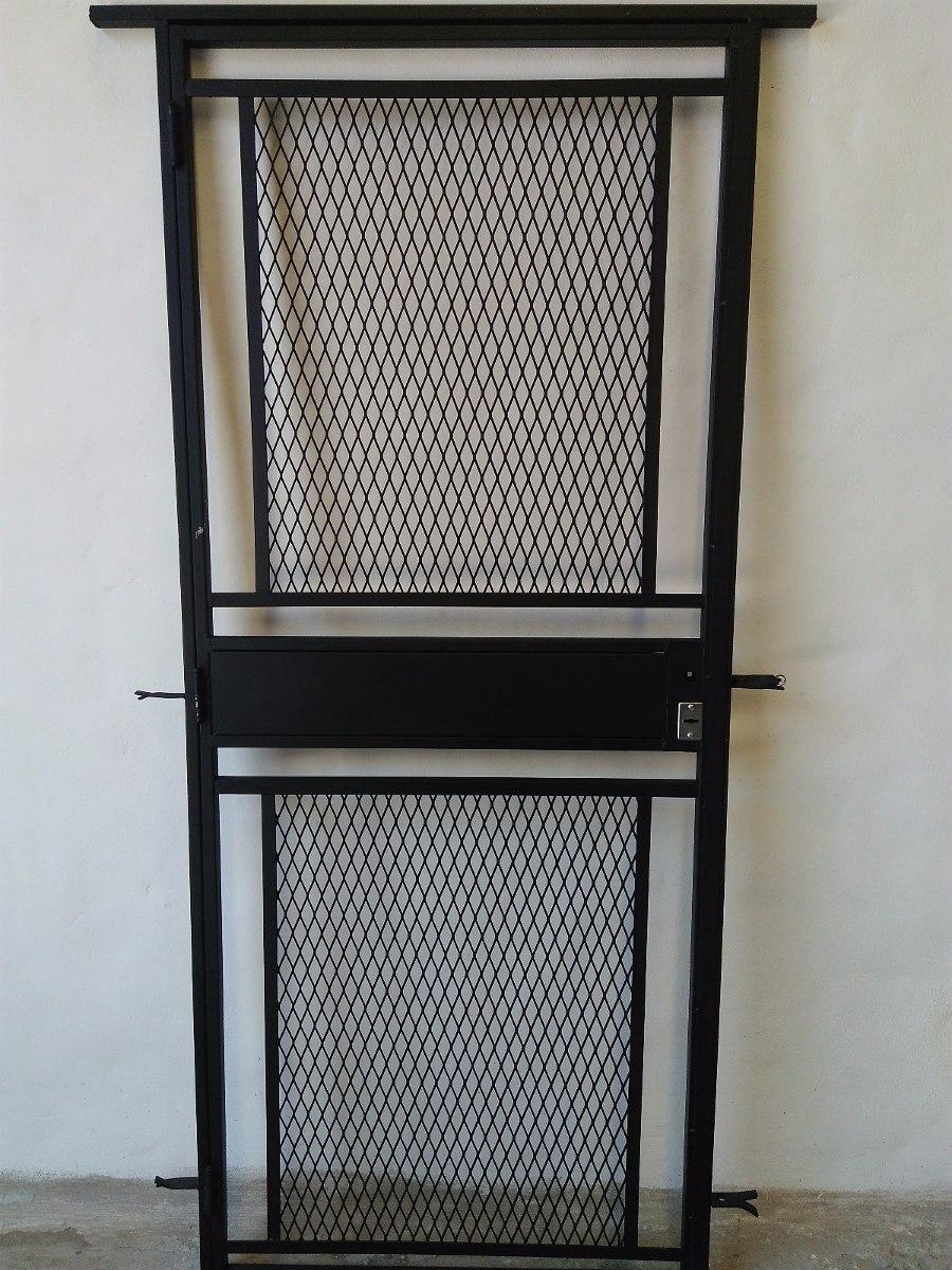 Puerta Reja Con Malla 80x200 Con Marco Y Cerradura - $ 4.135,00 en ...