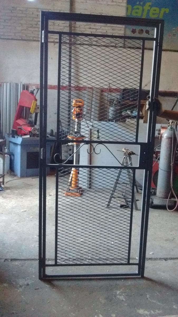 Puerta Reja De Malla Metal Desplegado Con Marco - $ 2.690,00 en ...