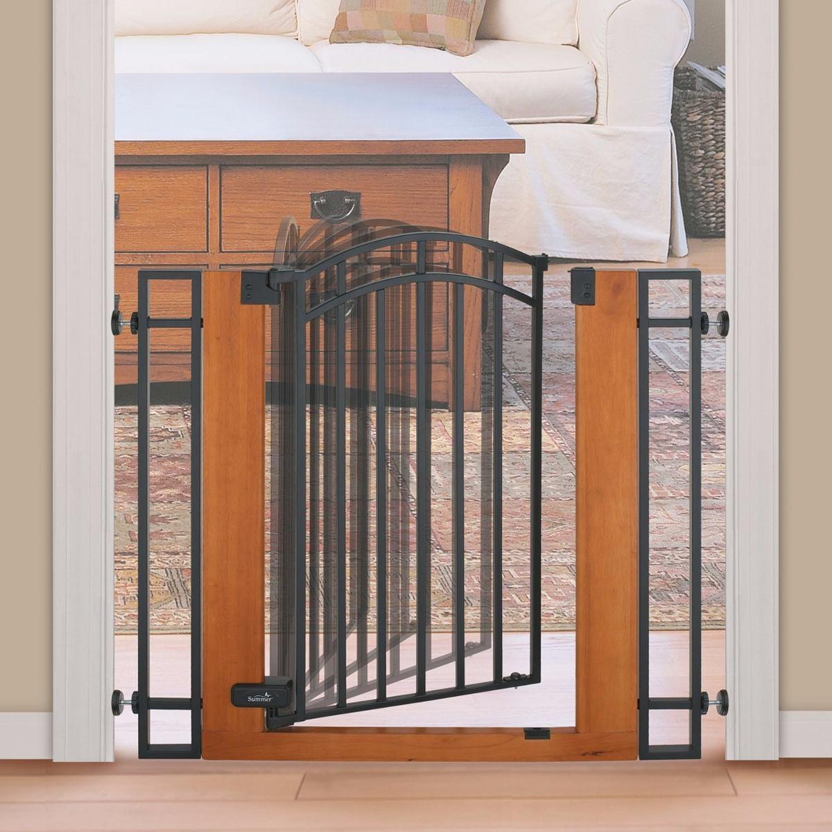 Puerta reja de seguridad madera y metal summer infant - Puertas de reja ...