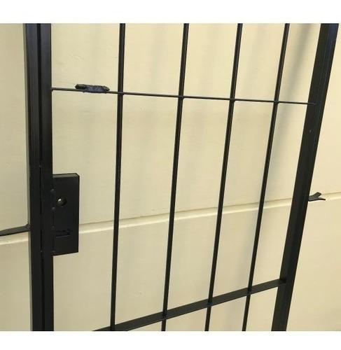 puerta reja hierro del 12 abrir con cerradura de 80x200