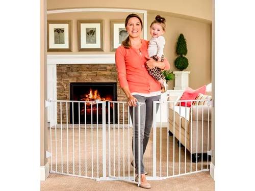 puerta reja seguridad extra ancha para bebe proteccion 193cm