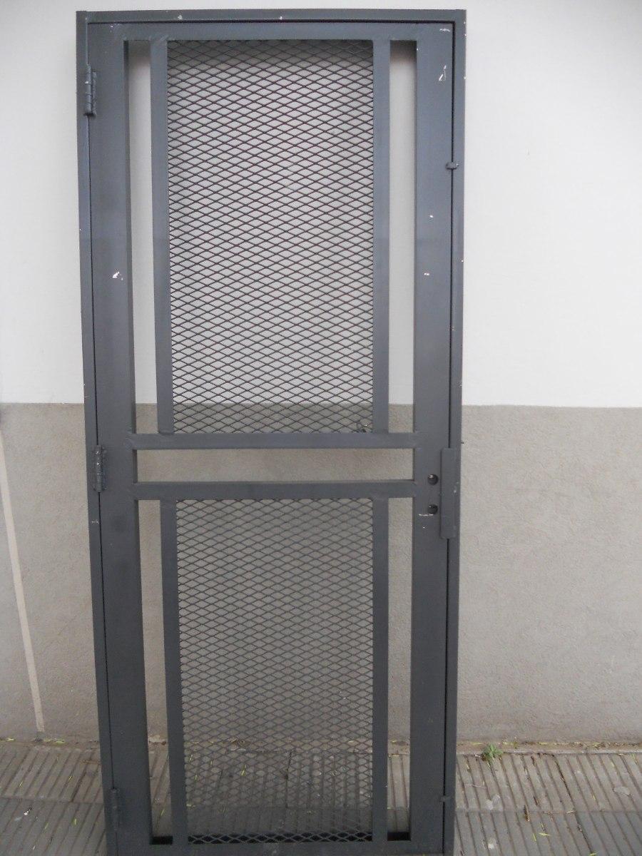 Puerta Reja Seguridad Maya De Acero Marco Reforzado 90x200 - $ 5.699 ...