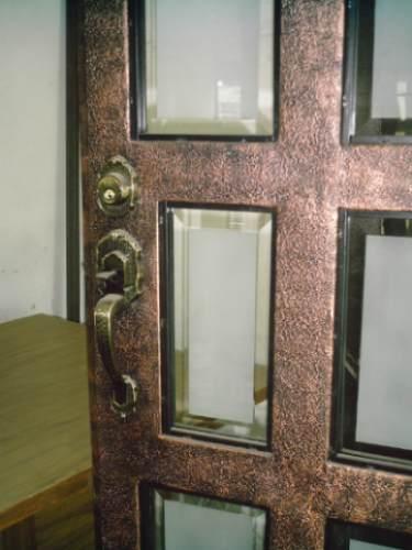 Puerta reticula residencial de herreria rustica fina m2 for Puertas de herreria para interiores