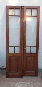 Puerta Retro Vintage Doble Hoja De Pinotea