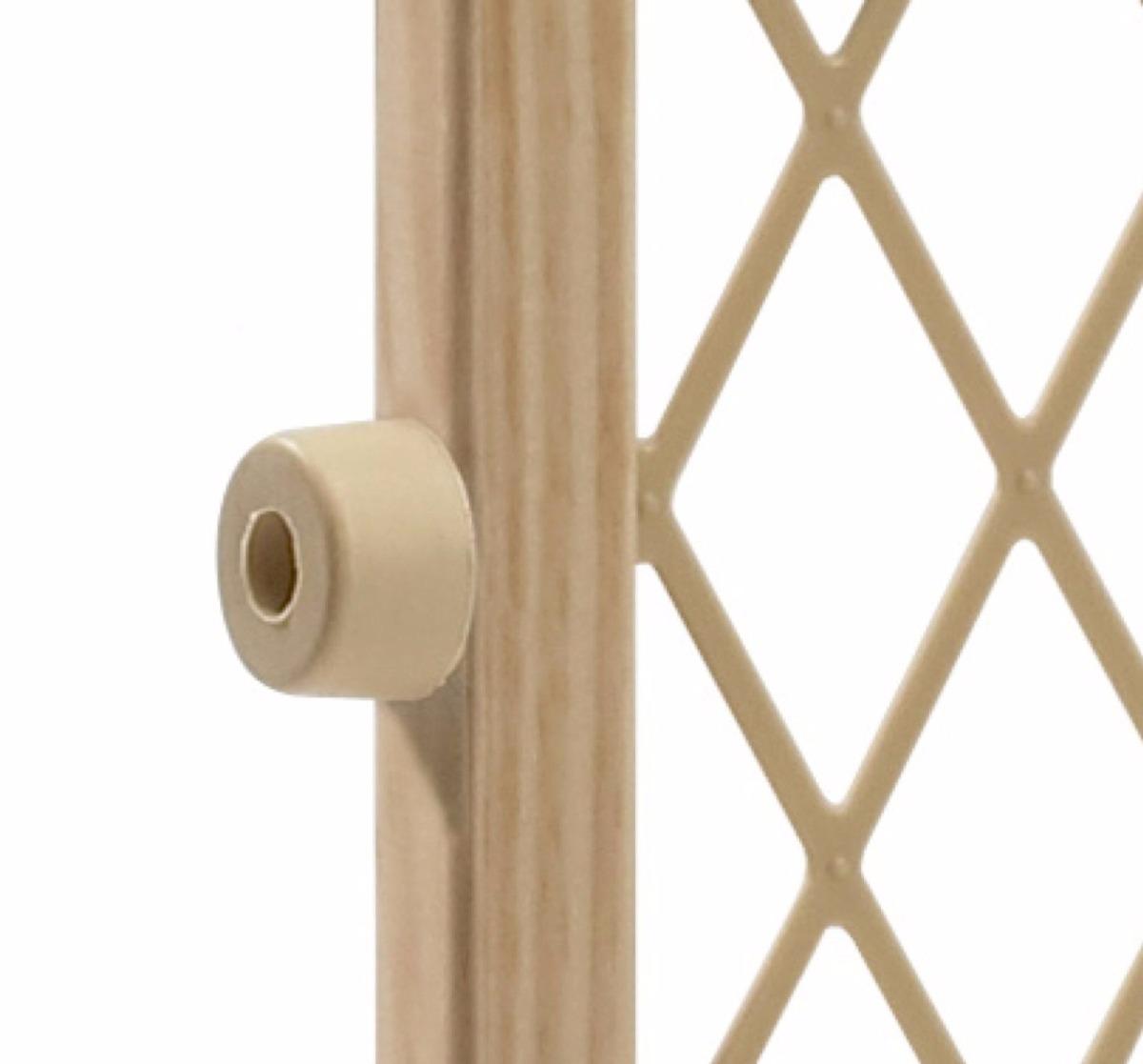 Puerta reja de madera evenflo seguridad bloqueo bebes - Puertas de seguridad para ninos ...
