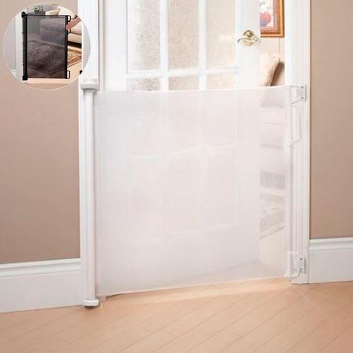 puerta seguridad bebes escaleras retractil enrollable niños