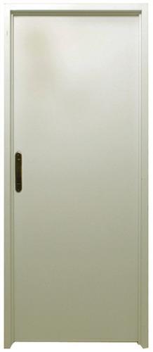 puerta seguridad ciega chapa pesada 80x200 derecha blanca