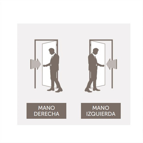 puerta seguridad ciega chapa pesada 80x200 izquierda blanca