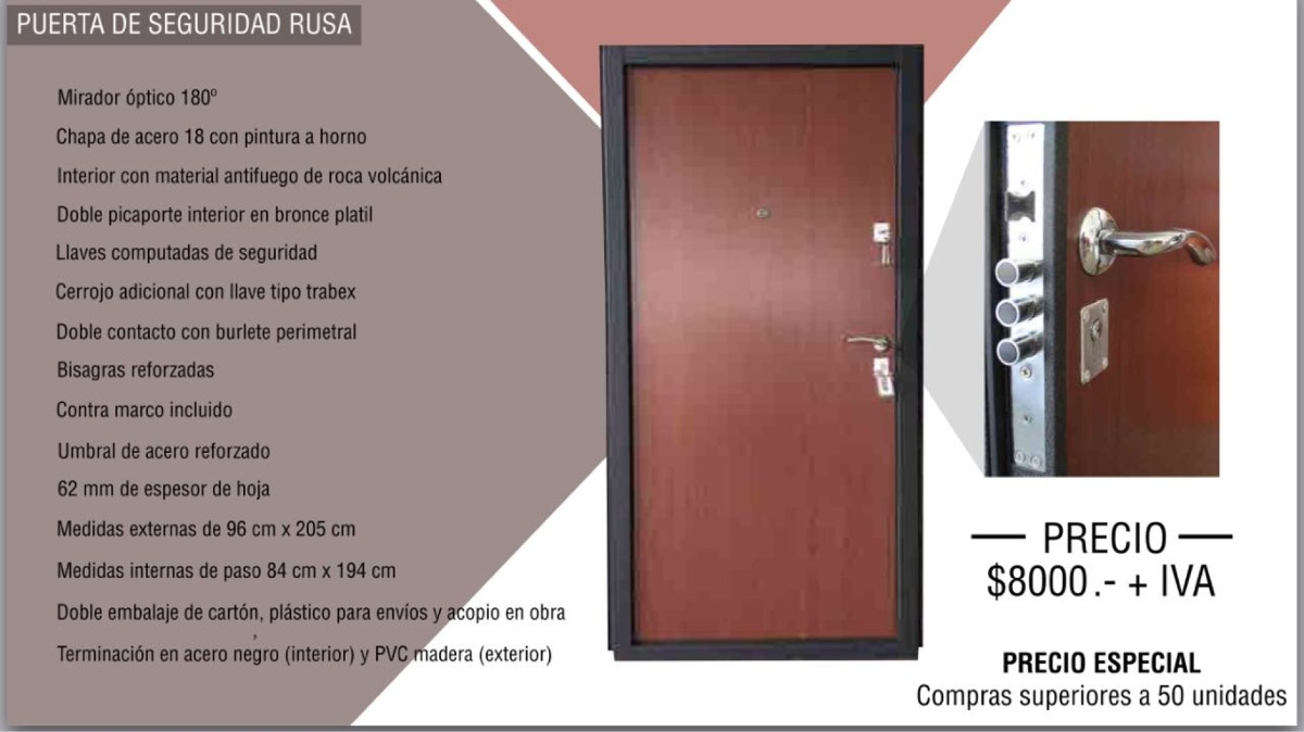 Puertas blindadas a medida madrid puerta blindada lisa en for Cuanto cuesta una puerta
