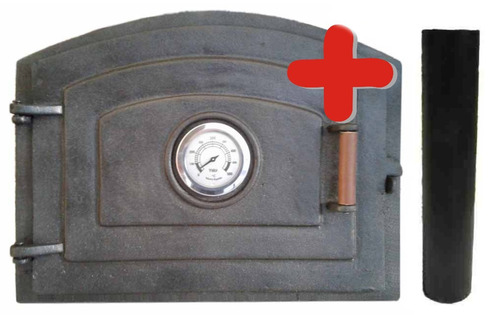 puerta tapa horno barro fundición rectificada+ chimenea s/m
