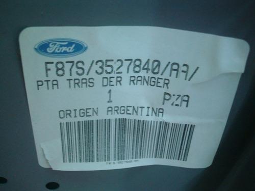 puerta trasera ranger derecha 99/05 orinal ford