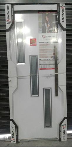 puerta trento pavir exterior al horno blanca barral 80x200