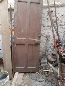 Puerta Usada Antigua Para Restaurar De Madera Roble
