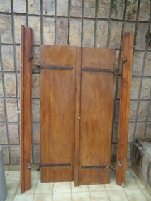 Puerta Vaivén Rústica En Madera