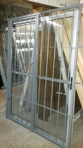 puerta ventana 150x200 con reja