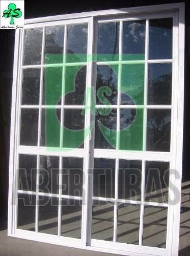 puerta ventana alum bl rep 150x200 c/vidrio 4mm