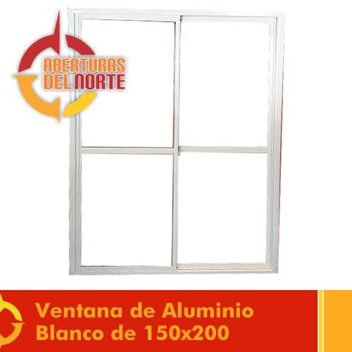 puerta ventana aluminio balcon con reja y mosquitero 150x200