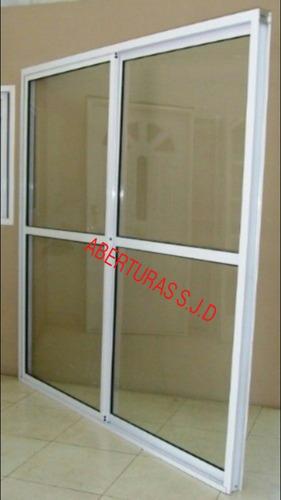 puerta ventana balcon 120x200  vidrio entero 4mm + reja 01
