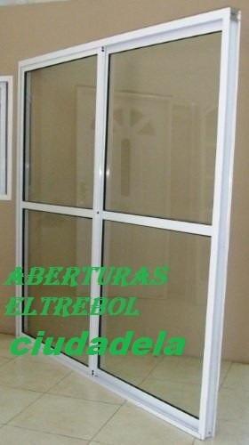 puerta ventana balcon 150x2 vidrio entero  con alto transito