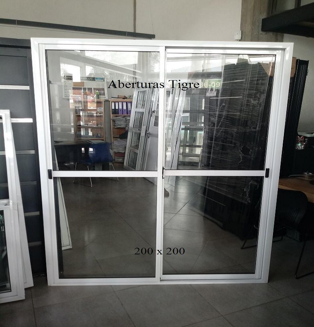 Puerta Ventana Balcón Aluminio Blanco 200x200 Vidrio 4mm - $ 4.100 ...