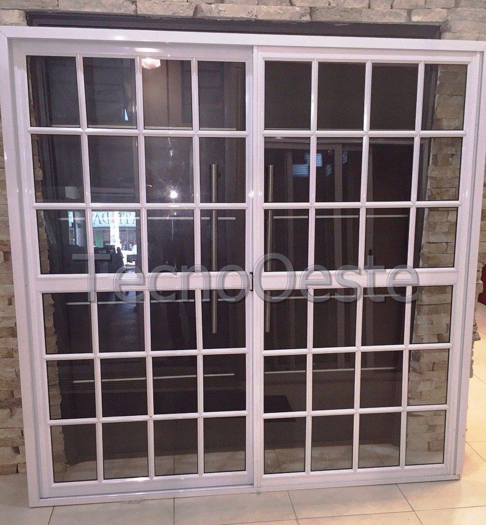Puerta Ventana Balcon Aluminio Blanco Repartido 200x200 Cm - $ 6.500 ...