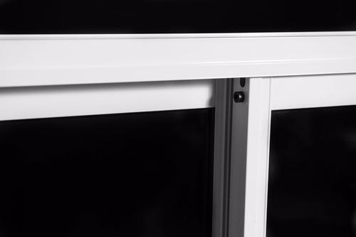 puerta ventana balcon aluminio blanco vidrio entero 120x200