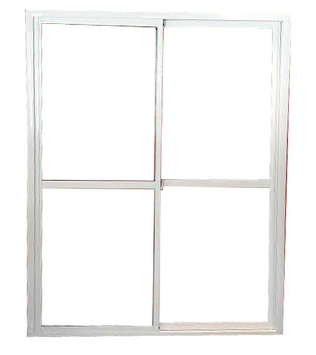 Puerta ventana balcon corrediza aluminio blanco 150x200 for Puerta corrediza aluminio