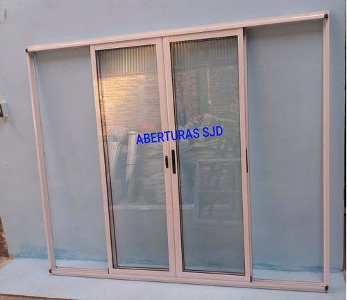 puerta ventana balcon modena aluminio  400x200 vidrio 4mm 08