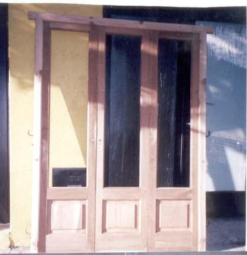 puerta ventana de tres hojas..