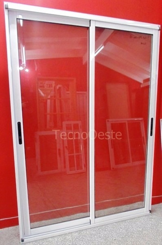 puerta ventana módena aluminio blanco 150x200 c/ reja tubos