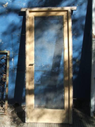 puerta vidrio entero cedro antigua