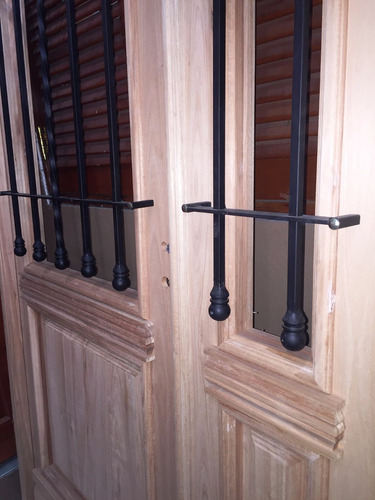 puerta y media madera 1/2 reja colonial antigua + 120x200 cm