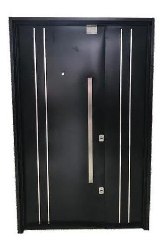 puerta y media residencial doble chapa 120x200 plan cuotas