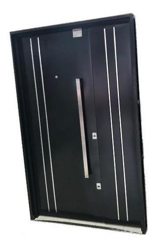 puerta y media residencial doble chapa premium 120x200
