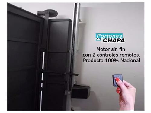 puerta y porton levadizo de chapa automático a1001au+7001-80