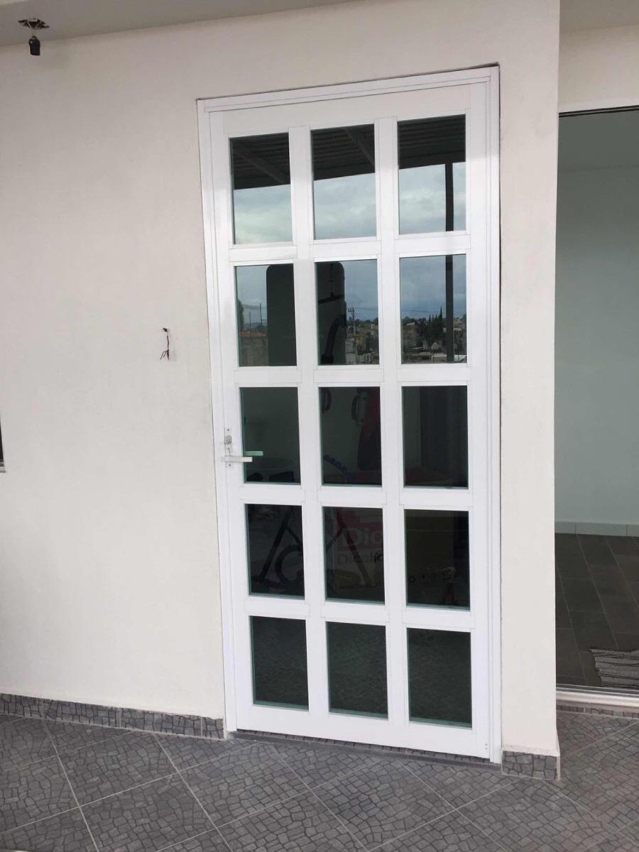 Puerta y ventana de aluminio vidrio templado - Puerta de aluminio y vidrio ...