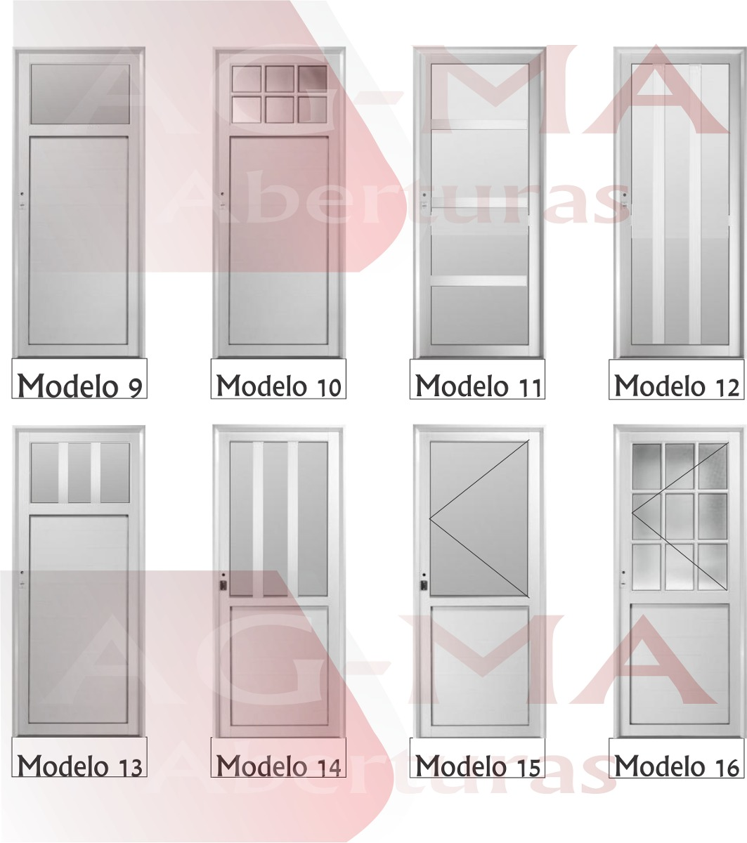 puertas aluminio bco vidrio repartido x cerradura