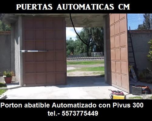 puertas automáticas con equipo pivus 300.